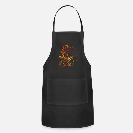 Chinese Zodiac Fire Flame Dragon Fantasy Mythical Apron | Spreadshirt