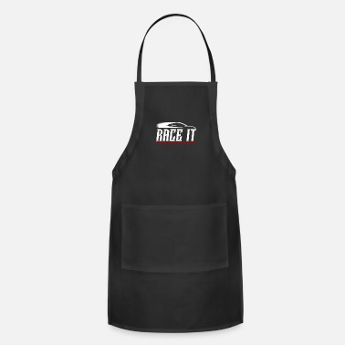 Race Track Race It Racing Design for Hotrod Track Lovers and - Apron