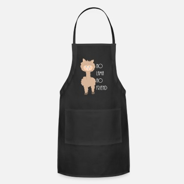 Smooch No Lama No friend Sandra Bredtmann w - Adjustable Apron