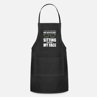 Dirty Face Sitting Oral Sex dirty naughty saying gift - Apron
