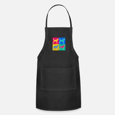 Redbone Coonhound Colorful Redbone Coonhound Dog Art - Apron