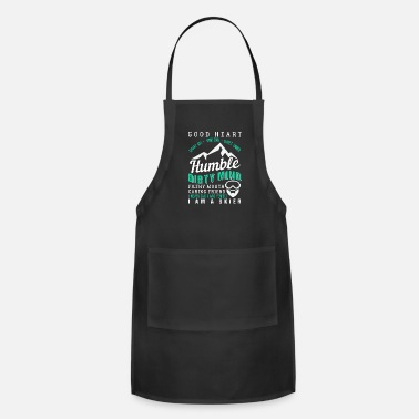 Dirty Good Heart Dirty Mind I Am A Skier - Adjustable Apron