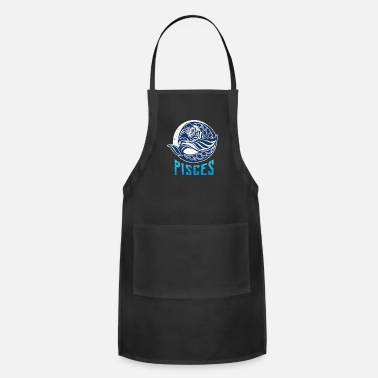 Gemini Zodiac sign Pisces Astrology stars fish - Adjustable Apron