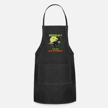 Witch Witch on witch broom - Apron