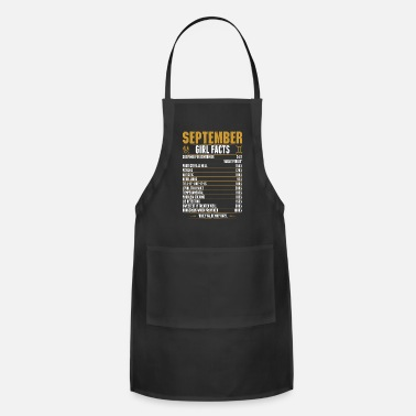 September Gemini Girl Facts Tshirt - Apron