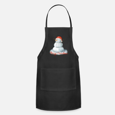 Happy Christmas Happy Snowman Schneemann Winter Merry Christmas - Apron