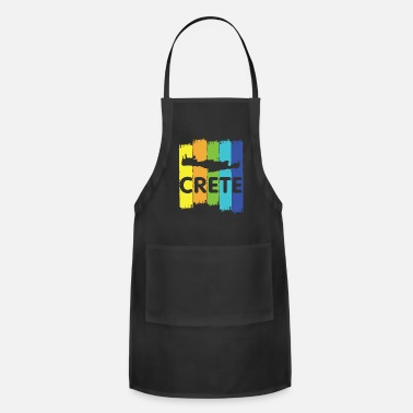 Crete Crete island map holiday gift - Apron