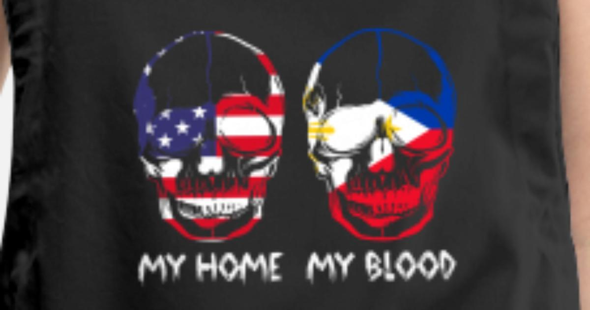 My Home My Blood Skull Philippines Flag Pride Apron | Spreadshirt