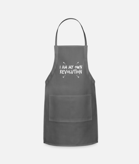 Social Aprons - I am my own revolution - Apron charcoal