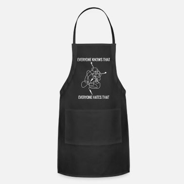 Headphones Knotted Cable Salad Hate Saying Shirt - Apron
