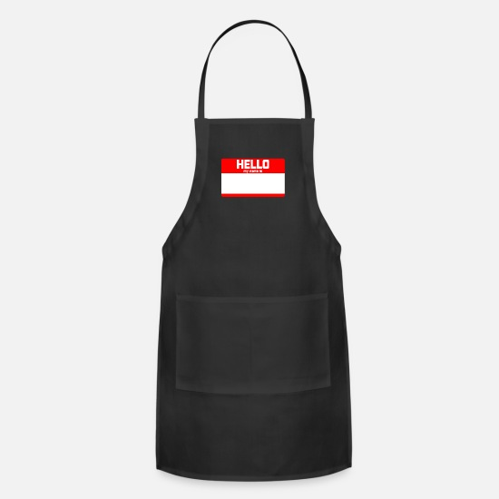 My Aprons - HELLO MY NAME IS - Apron black