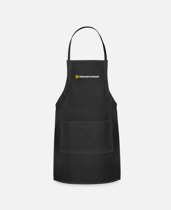 Intercourse Aprons - Orgasm Donor - Apron black