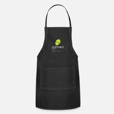 Brewers Hoptimist - for Brewers and Craft Beer Lover - Adjustable Apron