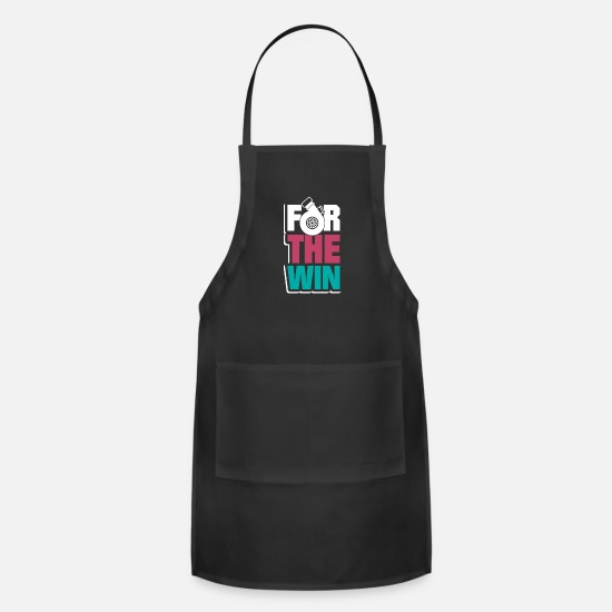 Love Aprons - Motorsport T-Shirt & Gift - Apron black