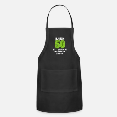 Round Birthday 50th Birthday Round Birthday - Apron