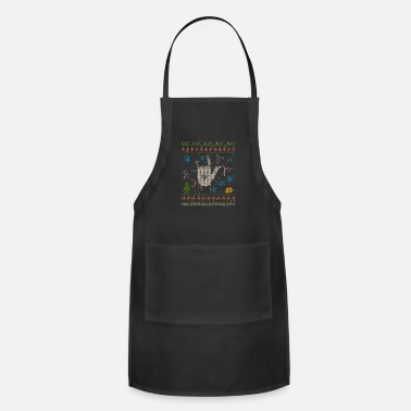 Rocknroll Rock N Roll Christmas Ugly Shirt RocknRoll - Adjustable Apron