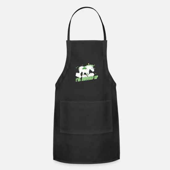 Playful Aprons - Playful Unicorn - Apron black