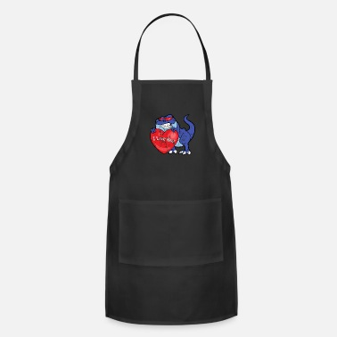 Husband Retro Vintage Grunge Style Valentine's Day - Adjustable Apron