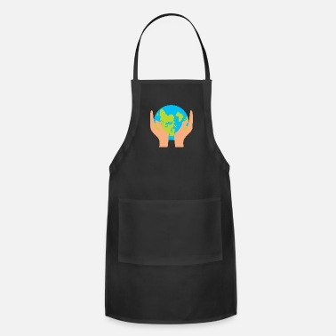 Hands Holding The Earth Funny Earth - Hands Holding Globe - Planet Humor - Apron