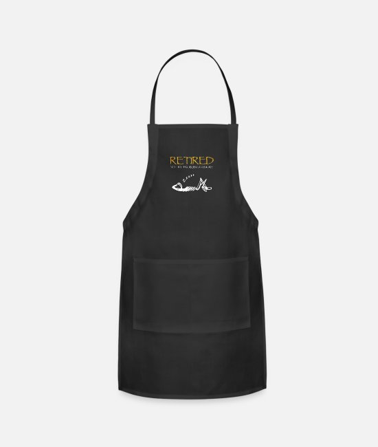 Retirement Aprons - retired not my problem anymore - Apron black