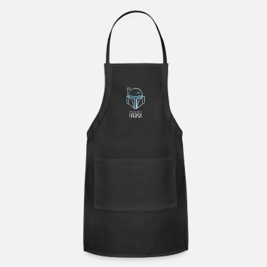 Fantasy trooper helmet space sci-Fi outline movie lol cost - Apron