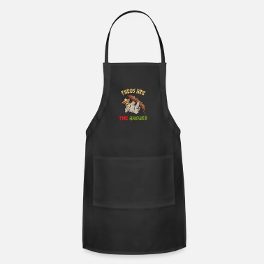Retirement Tacos Are The Answer - Cinco De Mayo Sloth - Adjustable Apron
