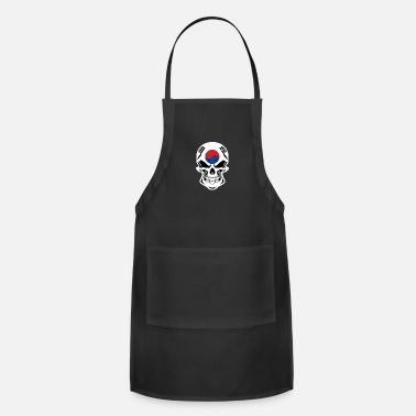 Korean Korean Flag Skull - Apron
