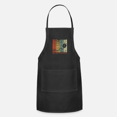 Christmas Electrician - Retro, Electricity, Electronics, Gif - Adjustable Apron