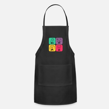 Quote DOG's Retro Design Color Variations - Adjustable Apron