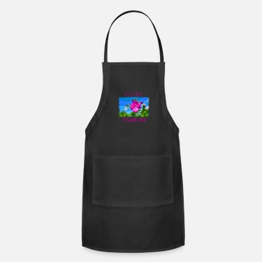 Pixel PIXEL FLOWER with pixel font - Adjustable Apron