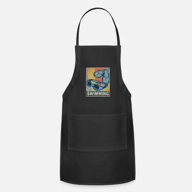 Water Sports Swimming Retro Vintage Old School Gift Glasses - Adjustable Apron