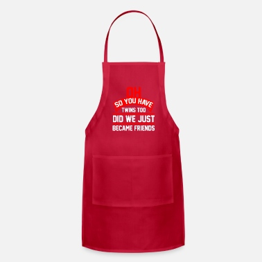 Baby Boy Funny Twin Dad Fathers Day Gifts I Twin Daddy - Apron