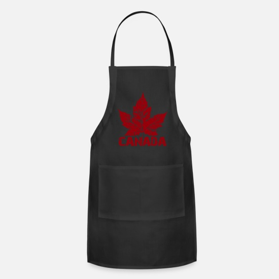 Canada Aprons - Cool Canada Souvenir Distressed Maple Leaf Art for - Apron black
