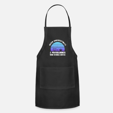 Computer Science Programmer who drinks Coffee Funny Gift - Apron