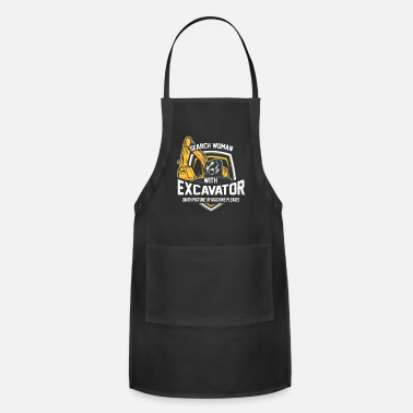 Jackhammer Excavator Shirt - Worker - Search woman - Adjustable Apron