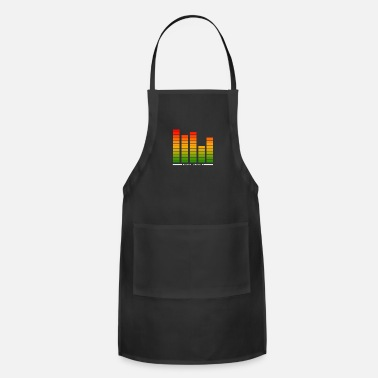 Suggestive Audio Levels.Loud Music.Cool Sound Bars - Adjustable Apron