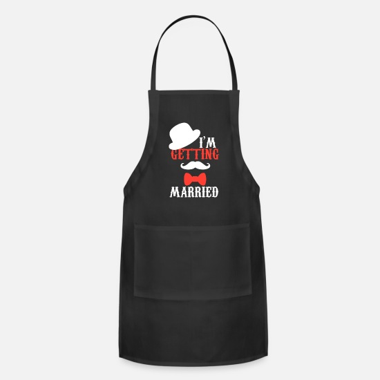 Bachelorette Party Aprons - Marry gentlemen JGA gift hat - Apron black