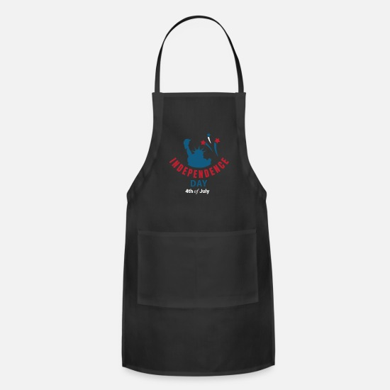 Dday Aprons - 4th of july - Apron black