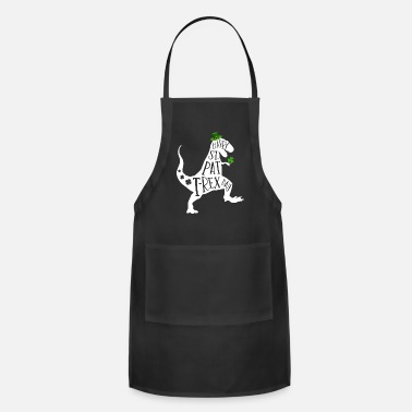 Awesome Happy St Pat T-Rex Day Dinosaur Shamrock St - Apron