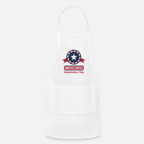Dday Aprons - 4th of july - Apron white
