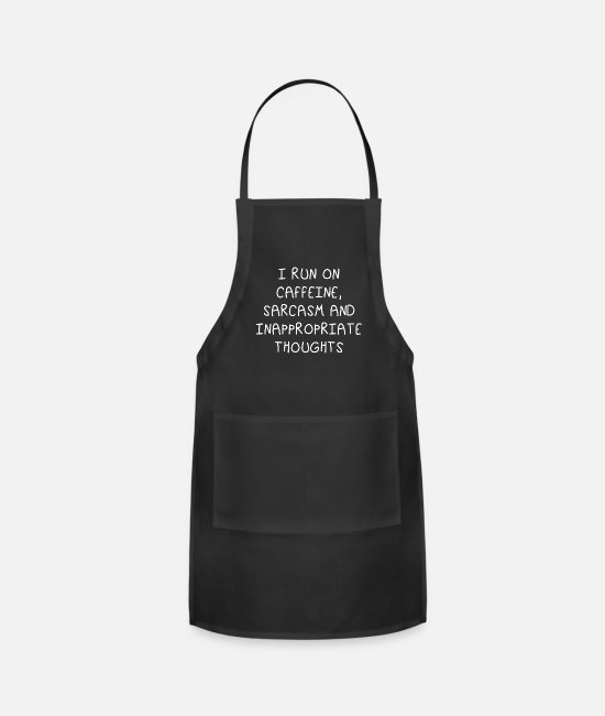 Gun Aprons - I run on caffeine sarcasm and inappropriate - Apron black