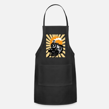 Steam Engine Retro Vintage Locomotive Train Steam Engine - Apron