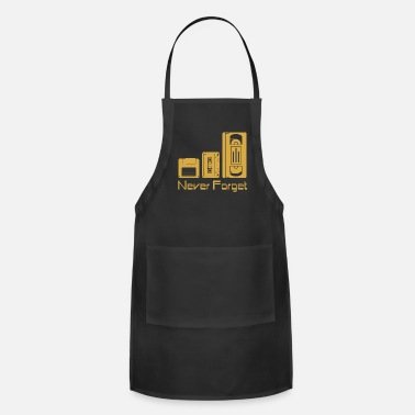 Floppy Disk Never Forget Never Forget Tee Shirt Funny Floppy Disk VHS TAPE - Apron