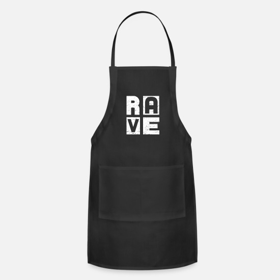 Dj Aprons - Raving EDM Party - Apron black