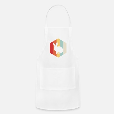 Retro Rabbit Silhouette - Apron