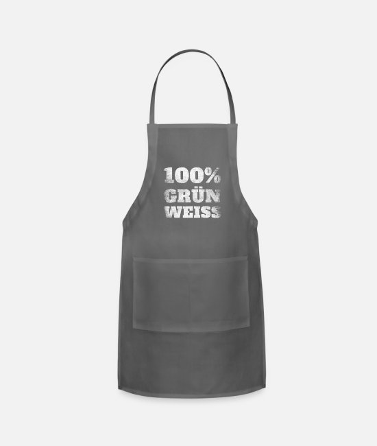 Alps Aprons - 100% Green White Styrian Styria - Apron charcoal
