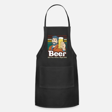 Wheat Beer Brain Off Beer Night Funny Quote - Apron