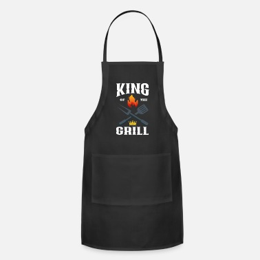 Grill Funny BBQ Grill King Of The Grill Smoker Gift USA - Apron