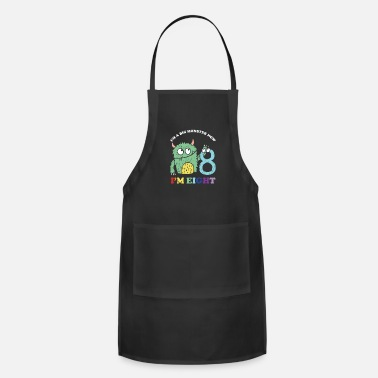 Year Of Birth Im A Big Monster Now 8 th Birthday Party Gift - Apron