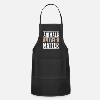 Volunteer Vegetarian Animal Life Cool Gift - Apron